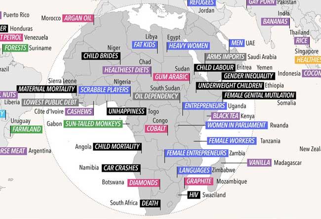 , Cette Carte du Monde Révèle en Quoi Chaque Pays est le Meilleur