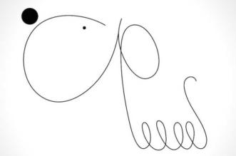 jonathan calugi chiens portraits illustration 1 331x219 - Illustrations Minimalistes de Chiens Faits d'une Ligne et de 2 Points
