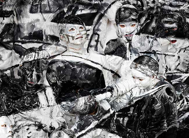 , La Joconde et Guernica de Picasso en Body Painting
