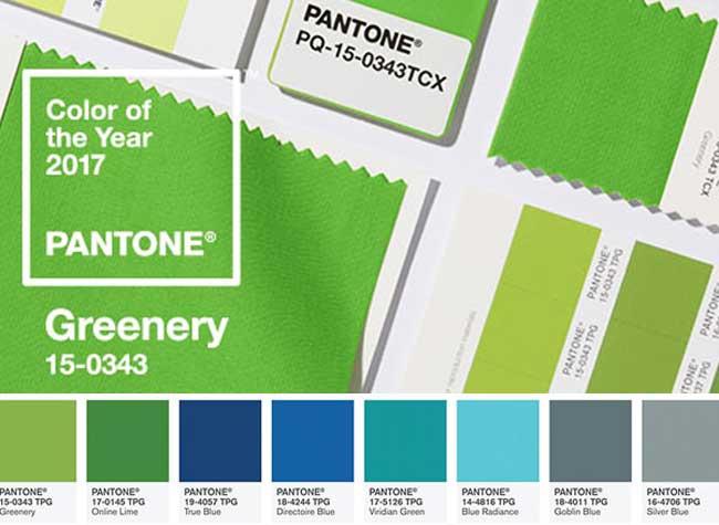 , Pantone Adopte le Vert comme Couleur de l'Année 2017