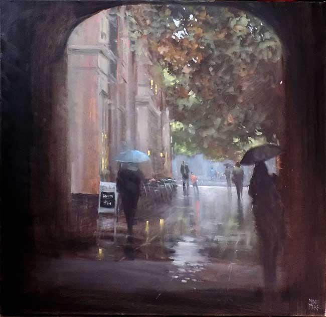mike barr, Jours de Pluie dans les Villes Australiennes en Peintures Réalistes