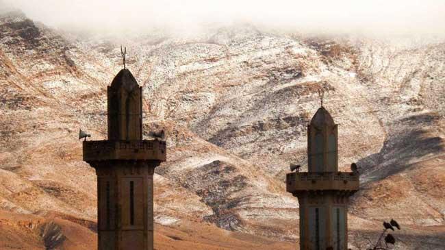 sahara neige desert algerie karim bouchetata 1 - Féérique, Il Neige dans le Désert du Sahara, le plus Chaud au Monde...