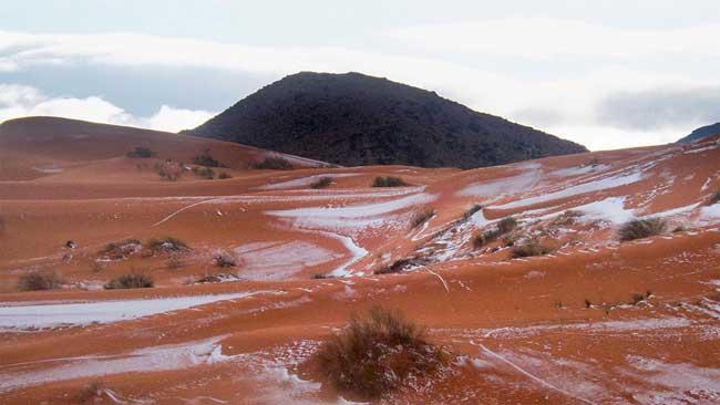 sahara neige desert algerie karim bouchetata 5 - Féérique, Il Neige dans le Désert du Sahara, le plus Chaud au Monde...