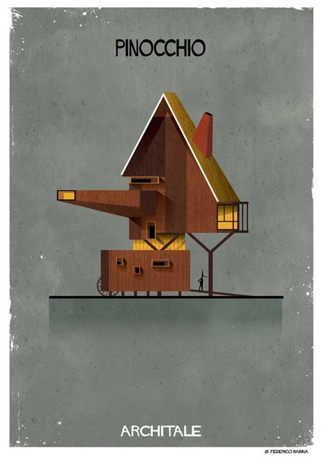 , Les Maisons des plus Célèbres Contes de Fées par Federico Babina