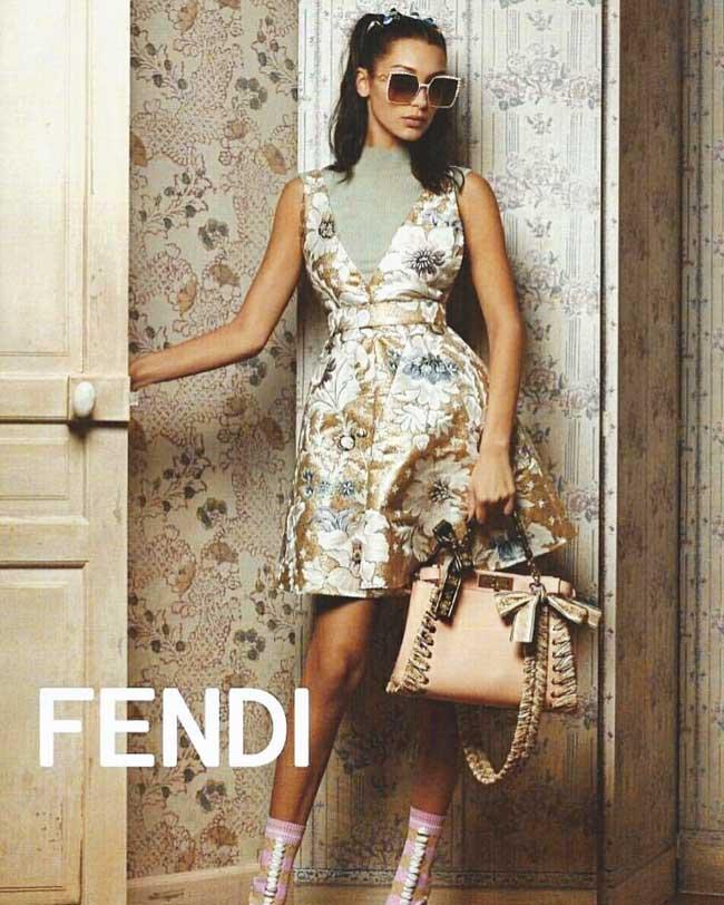 , Bella Hadid Star Retro pour la Campagne Fendi Ete 2017