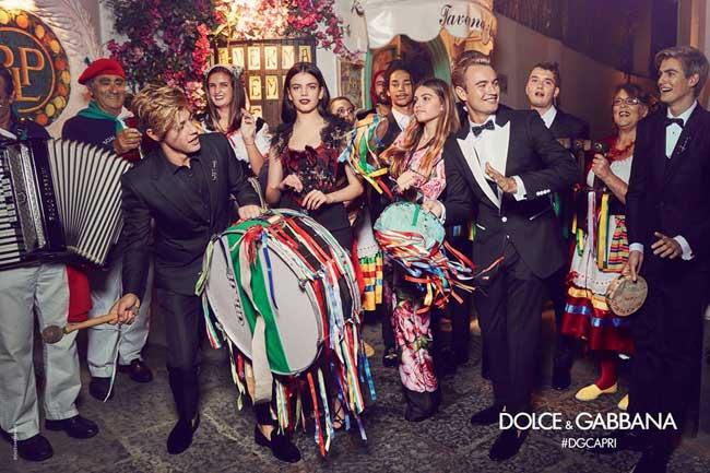 , Fils de Stars et Stars du Net chez Dolce Gabbana Homme Ete 2017