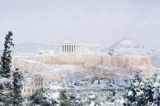 janvier 2017 athenes grece hiver neige 3 331x219 - Exceptionnel, Athènes et son Acropole sous la Neige (video)