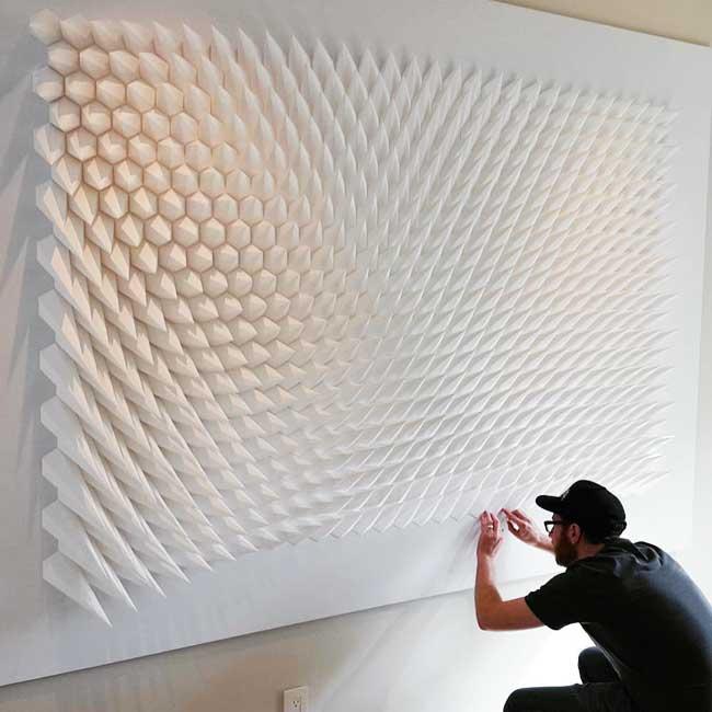 , Hypnotiques Sculptures 3D Cinétiques en Papier (video)