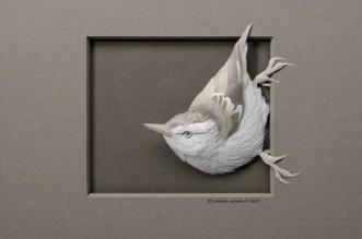 sculptures papier animaux calvin nicholls 1 331x219 - L'Art de Sculpter des Animaux 3D en Papier plus Vrais que Nature