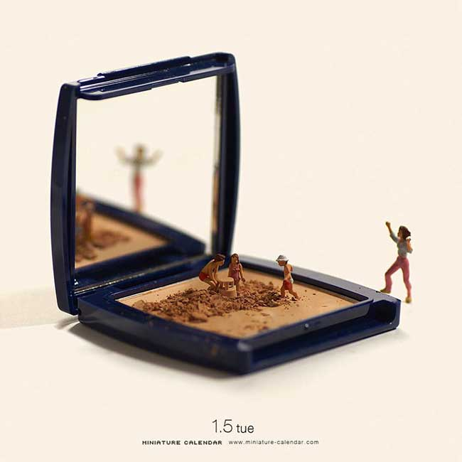 miniature calendar art tatsuya tanaka, Cet Artiste Japonais Raconte sa Vie en Dioramas