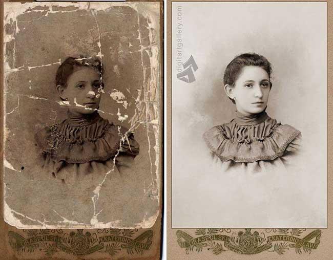 , Restauration Extrême de Photos Anciennes Détériorées