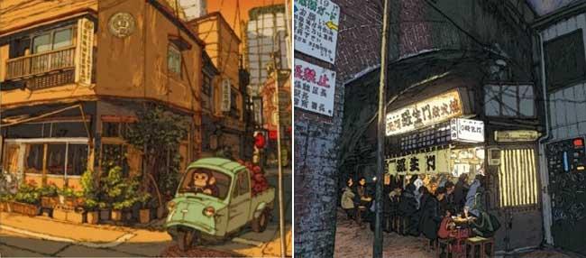 , Bienvenue à Tokyo Shimbashi par l'Illustrateur Shinji Tsuchimochi