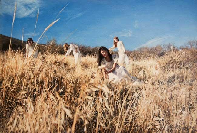 , Portraits de Belles des Champs en Peintures Photo Réalistes