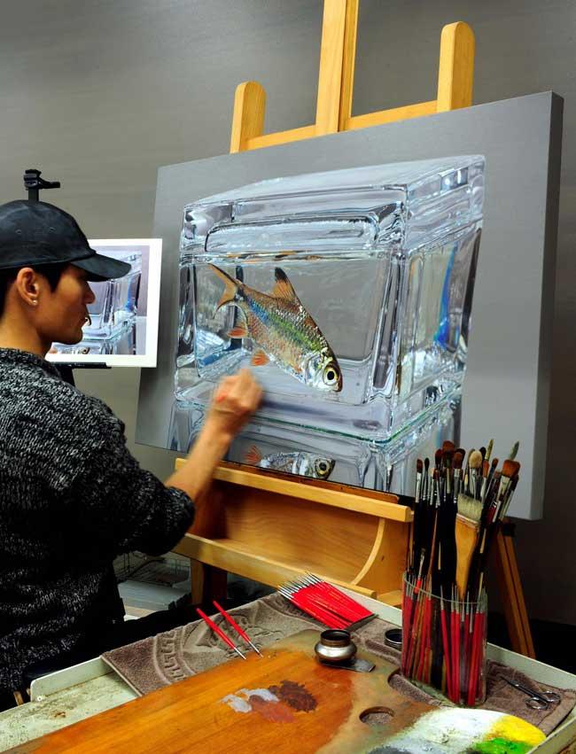 Peintures Young-Sung Kim, Ces Photos Animaux sont des Peintures Hyper Réalistes