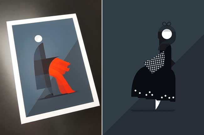 , Illustrations Conceptuelles de Mode au Style Yohji Yamamoto