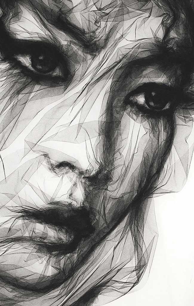 visage tulle, Visage de Femme Sculpté en Tulle chez Margiela Couture