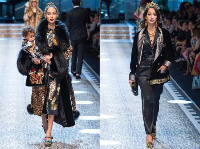 , Le Défilé Dolce Gabbana Célèbre la Femme dans sa Diversité pour l'Hiver 2017 2018