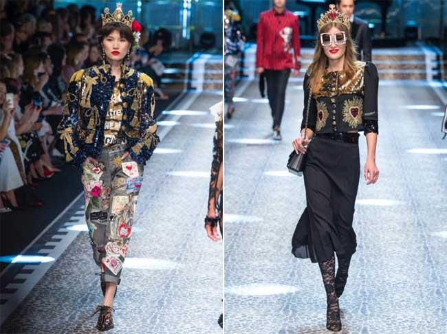 e1add9aa7cfddc dolce gabbana defile femme automne hiver 2017 2018 7 - Le Défilé Dolce  Gabbana Célèbre la