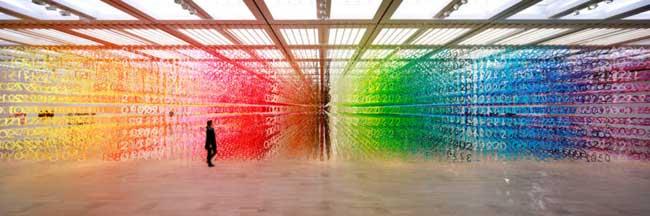 , 60000 Nombres en Papier pour une Installation d'Art Interactive à Tokyo