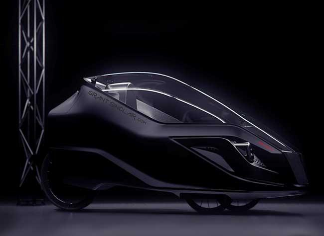 grant sinclair iris etrike tricycle electrique design 1 - Cette Voiture Urbaine Cache un Tricycle Révolutionnaire (video)