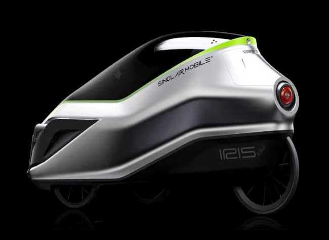 grant sinclair iris etrike tricycle electrique design 3 - Cette Voiture Urbaine Cache un Tricycle Révolutionnaire (video)