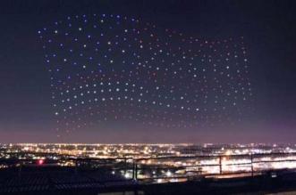 intel formation drones show aerien 1 331x219 - 300 Drones en Formation pour un Show Nocturne (video)
