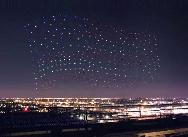 , 300 Drones en Formation pour un Show Nocturne (video)
