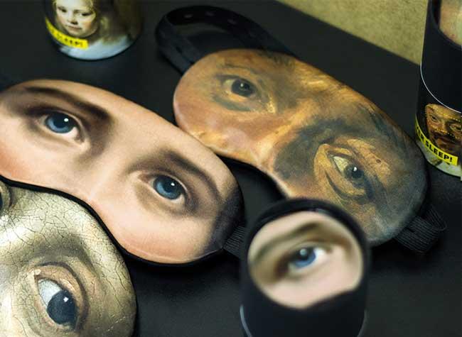 lesha limonov masque nuit sommeil portraits art 2 - Masques aux Regards d'Oeuvres d'Art pour Dormir les Yeux Ouverts (video)