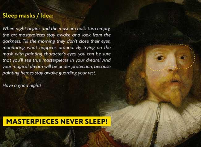 lesha limonov masque nuit sommeil portraits art 3 - Masques aux Regards d'Oeuvres d'Art pour Dormir les Yeux Ouverts (video)