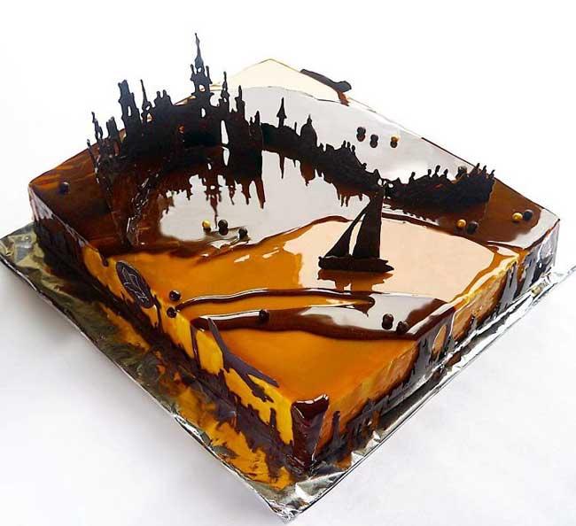 gateaux art architecture marie oiseau troitskaia, Cette Pâtissière Invite l'Architecture dans ses Gâteaux Glacés