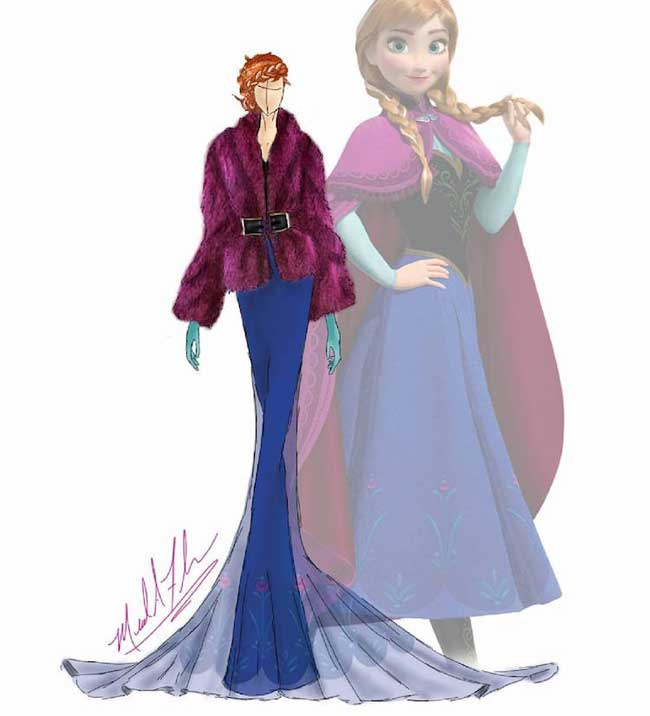robes princesses disney, Robes de Princesses Disney en Illustrations Glamour