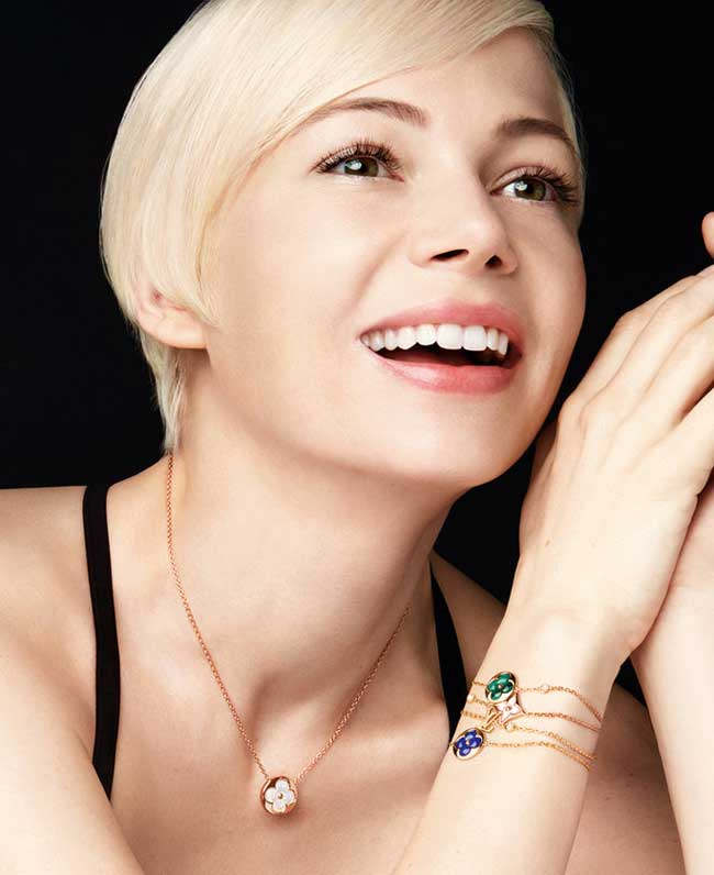 , Retour de Michelle Williams chez Louis Vuitton Joaillerie Eté 2017