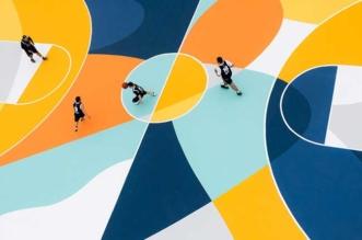 street art terrain basket italie artiste gue 1 331x219 - L'Artiste Gue Transforme un Terrain de Basket en Oeuvre d'Art