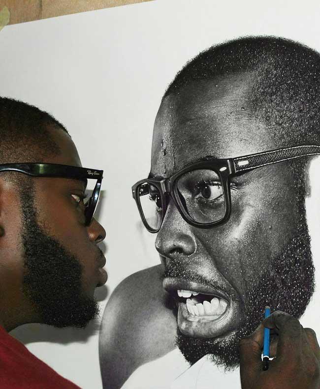 Artiste Nigérien Portraits Photo Realistes
