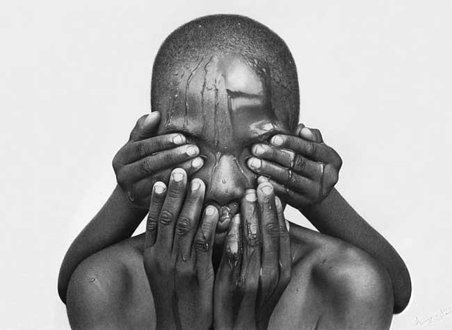 arinze stanley portraits realiste photo dessins, Portraits Photo Réalistes Dessinés au Crayon à Papier