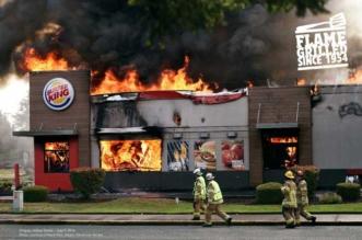 burger king campagne pub incendie feu 1 331x219 - Burger King fait la Pub de ses Restaurants en Feu