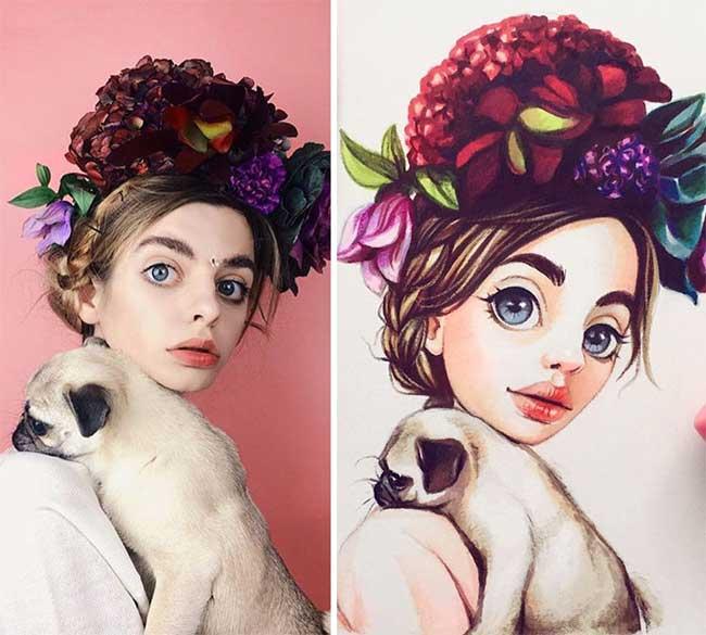 célébrites heros bd lera kiryakova, Adorables Caricatures de Célébrités au Style Bande Dessinée