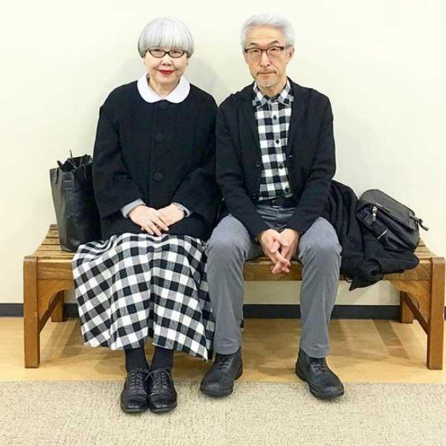 couple tenues coordonnees, Marié depuis 37 ans ce Couple s'Habille Toujours de Façon Coordonnée