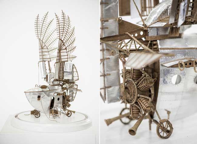 dirigeables carton, Machines Volantes tout Droit Sorties d'un Roman de Jules Verne