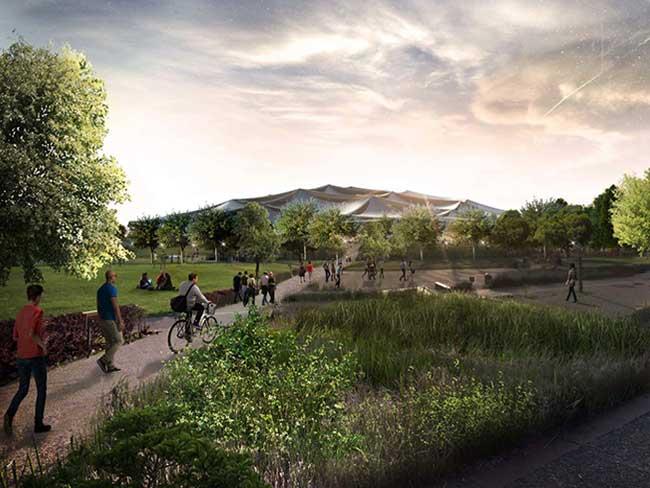 , Nouvelles Images du Campus Google à Mountain View