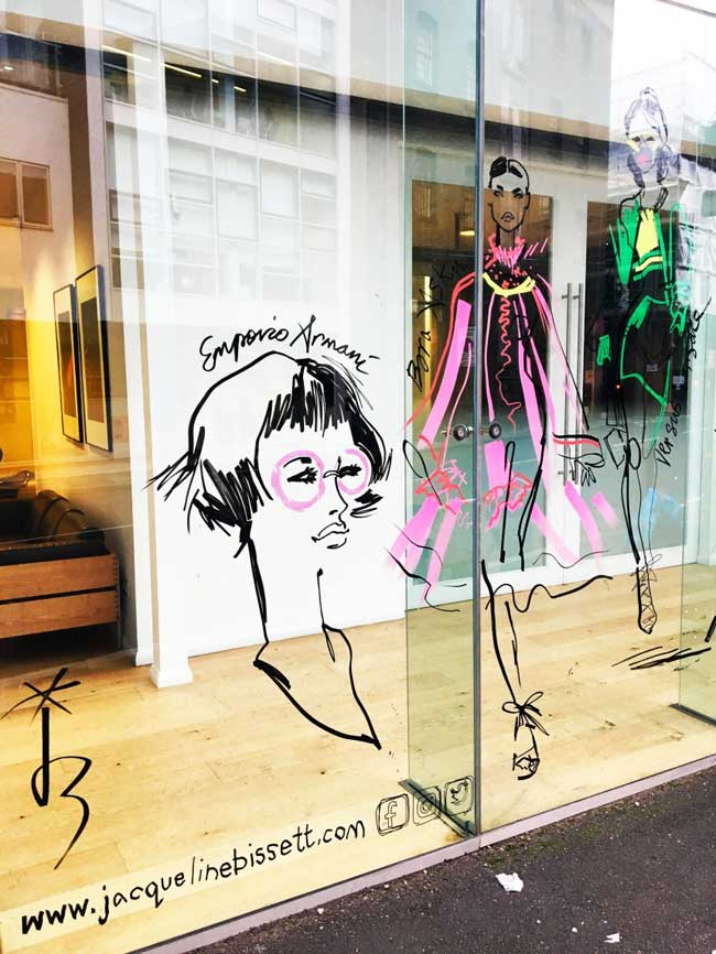 illustrations mode, Quand les Illustrations de Mode s'Affichent sur les Vitrines