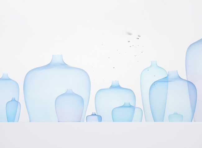 vases, Fascinants Vases Méduses Flottants chez Nendo (video)