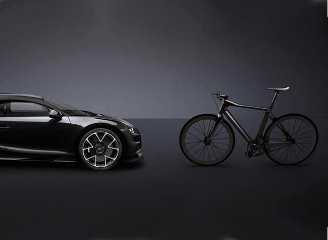 Bugatti bike velo, Bugatti Présente le plus Léger Vélo Urbain en Fibre de Carbone