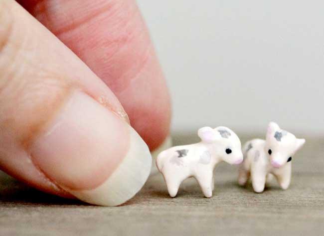 sculptures miniatures animaux art, Adorables Créatures Miniatures en Argile aux Détails Impressionnants