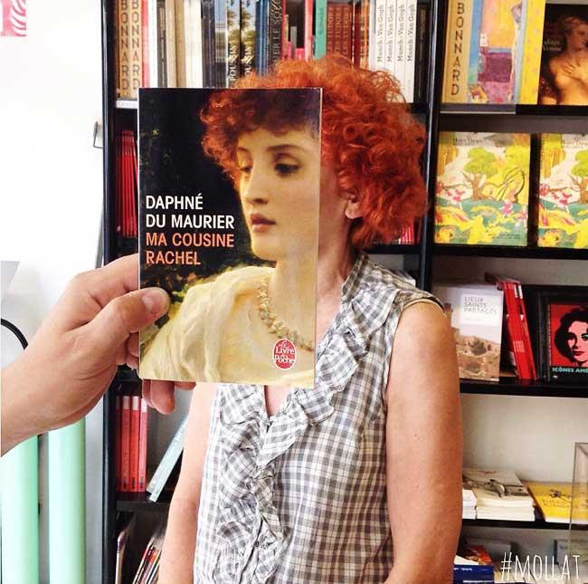 sleeveface couverture livres illusion optique portraits 3 - Quand les Employés d'une Librairie font du BookFace