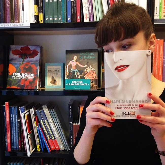 sleeveface couverture livres illusion optique portraits 4 - Quand les Employés d'une Librairie font du BookFace