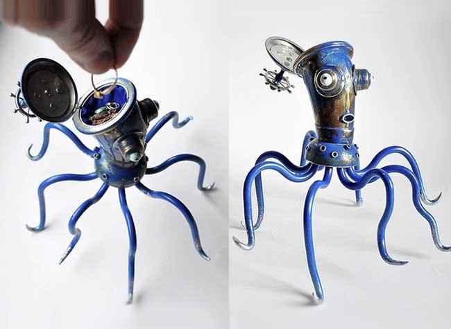 Arturas Tamasauskas Sculptures, Sculptures Rétro d'Animaux Composées de Matériaux Recyclés