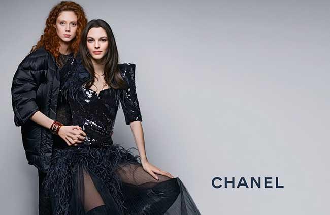 chanel pre-fall 2017, Chanel Pre Fall 2017 avec Vittoria Ceretti et Natalie Westling