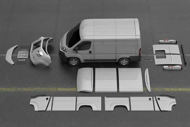 Citroen Type H, Retour du Légendaire Fourgon Citroen Type H en Kit (video)