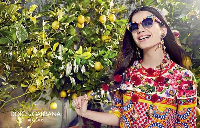campagne dolce gabbana lunettes, Lunettes de Soleil Femme Dolce Gabbana avec Sonia Ben Ammar